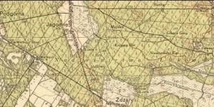 Jagodne na mapie z 1938 roku