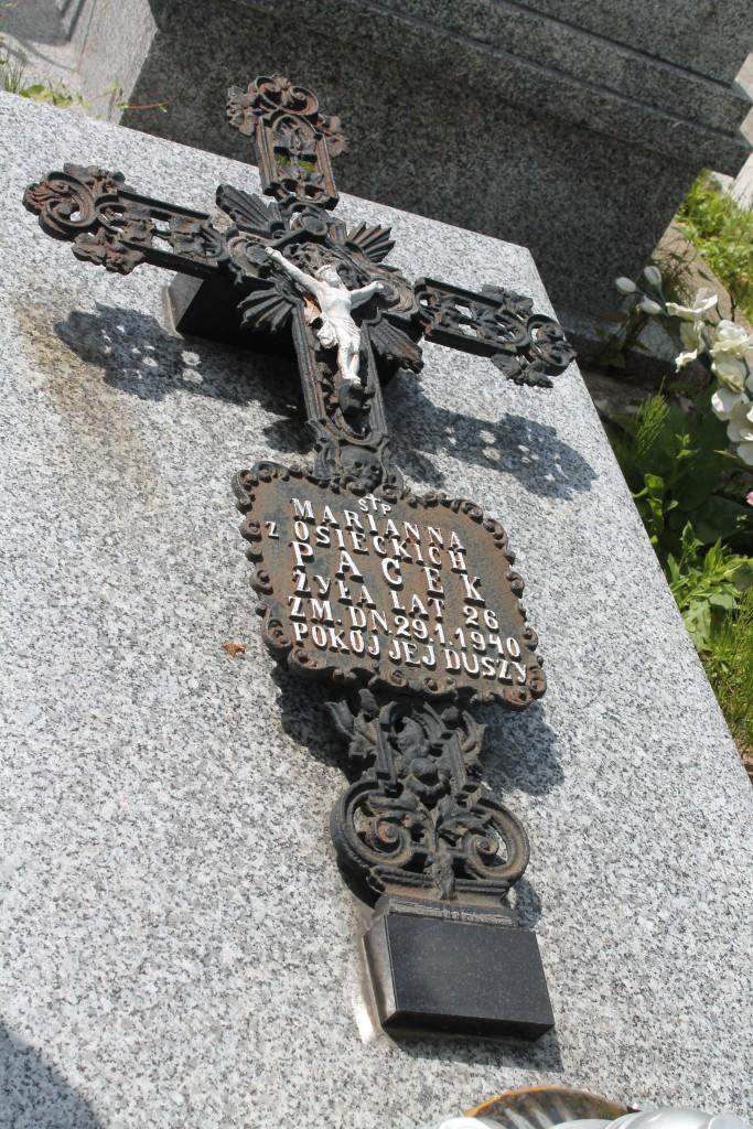 Piękny żeliwny krzyż uratowany od zniszczenia. Cmentarz w Adamowie