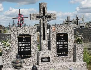 Pochowani na prochach Agnieszki i Aleksandra Kosiorków - cmentarz w Okrzei