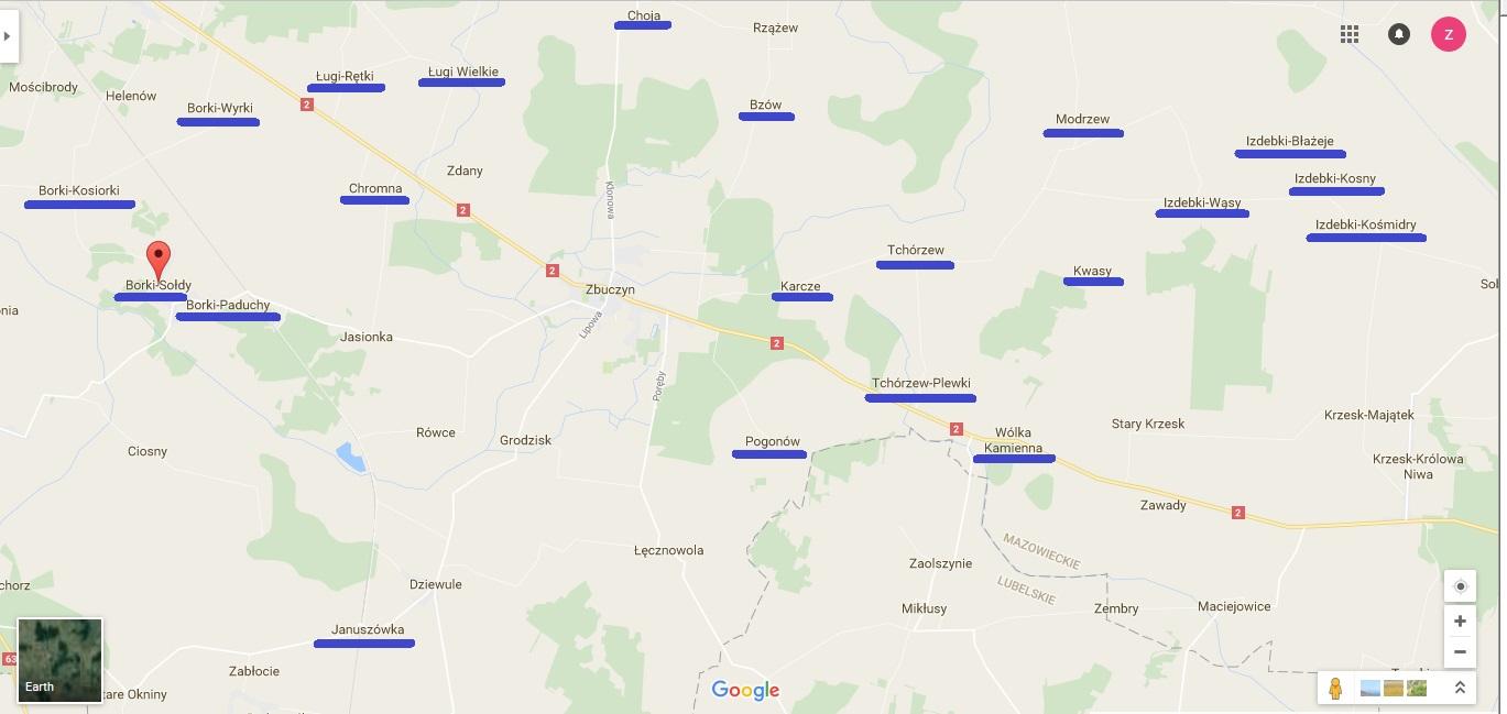Niektóre wsie koziarskie parafii Zbuczyn