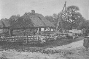 Zagroda wiejska w Olszewnicy. Wisła tom XVII. Rok 1903