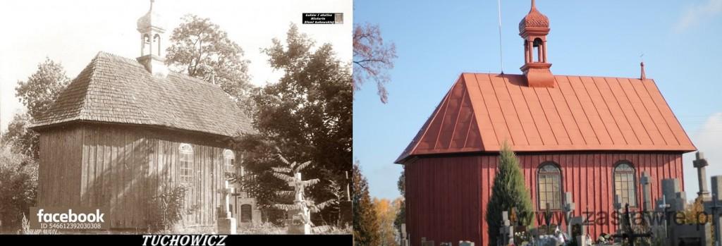 Kapliczka na cmentarzu w Tuchowiczu. Lata 70-te XX wieku i początek XIX wieku