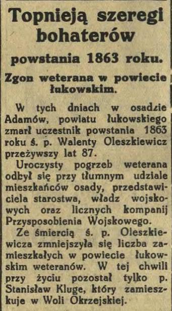 Express Lubelski i Wołyński 27 stycznia 1933