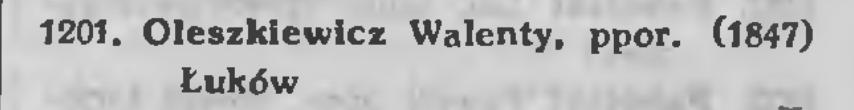 Spis weteranów powstania styczniowego z 1923 roku